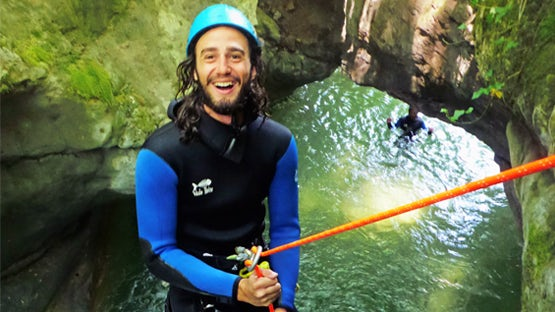 Canyoning trips with guides in the French Alps