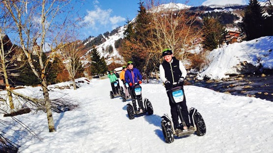Segway on snow in the Alps