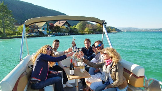 A private cruise on lake Annecy