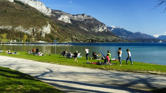 Albigny beach on lake Annecy