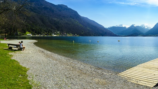 Angon beach, lake Annecy