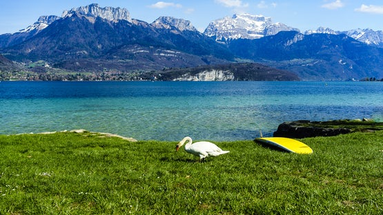 Saint Jorioz municipal beach, lake Annecy