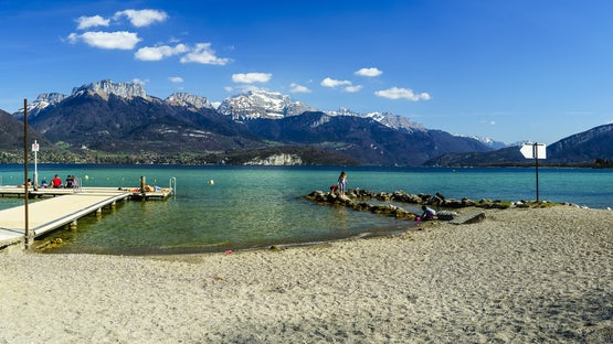 Sevrier municipal beach, lake Annecy